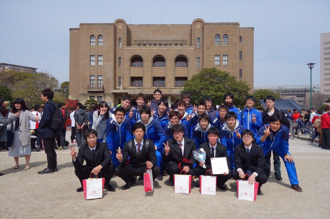 卒業式にて