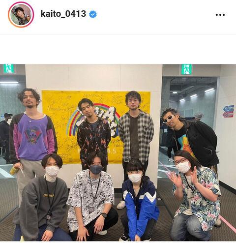 ミスチル桜井和寿の長男・Kaito、King Gnuとコラボ写真&ドラム演奏姿公開