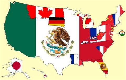 アメリカの州ごとに、最もグーグルで検索された国(画像)