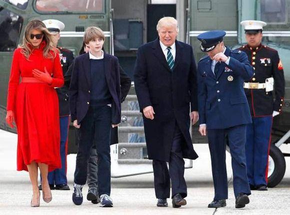 トランプ大統領の息子、バロン君(10歳、身長175cm)wwwww(画像あり)