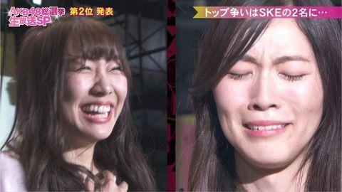 【第10回AKB総選挙】松井珠理奈が悲願の初女王!速報2位から逆転V