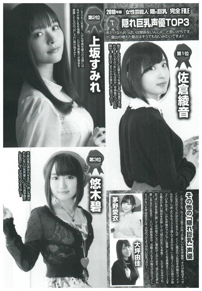 【画像あり】隠れ巨乳女性声優TOP3、暴露されるwww