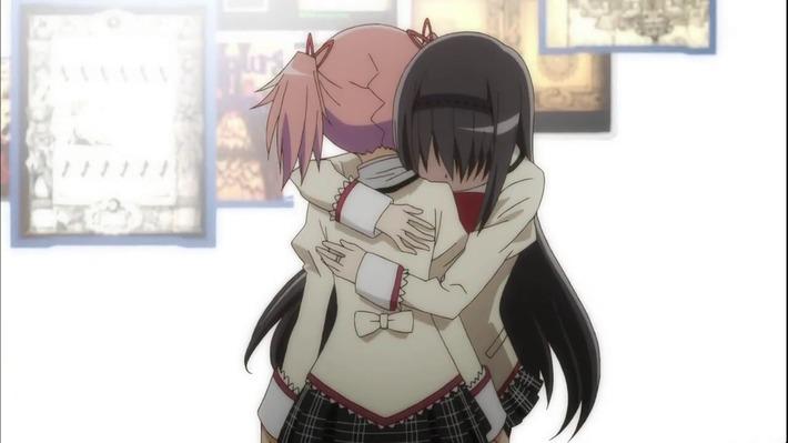 鹿目まどかと暁美ほむらがキスしてる画像wwwwwwwwww