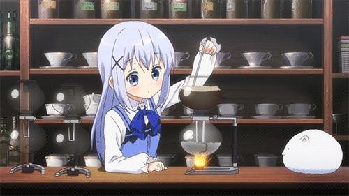 ごちうさチノちゃんの淹れたブレンドコーヒー440円、サンドイッチ770円