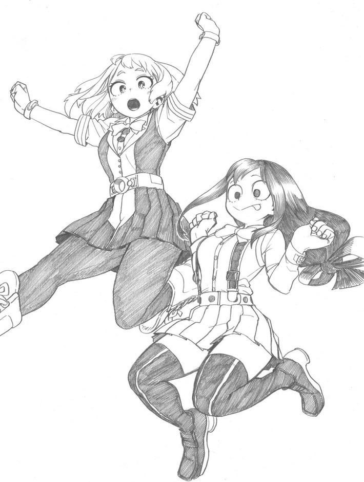 【悲報】ヒロアカ作者さん、太ももフェチにたまらんエロさの女の子を描いてくれるwww