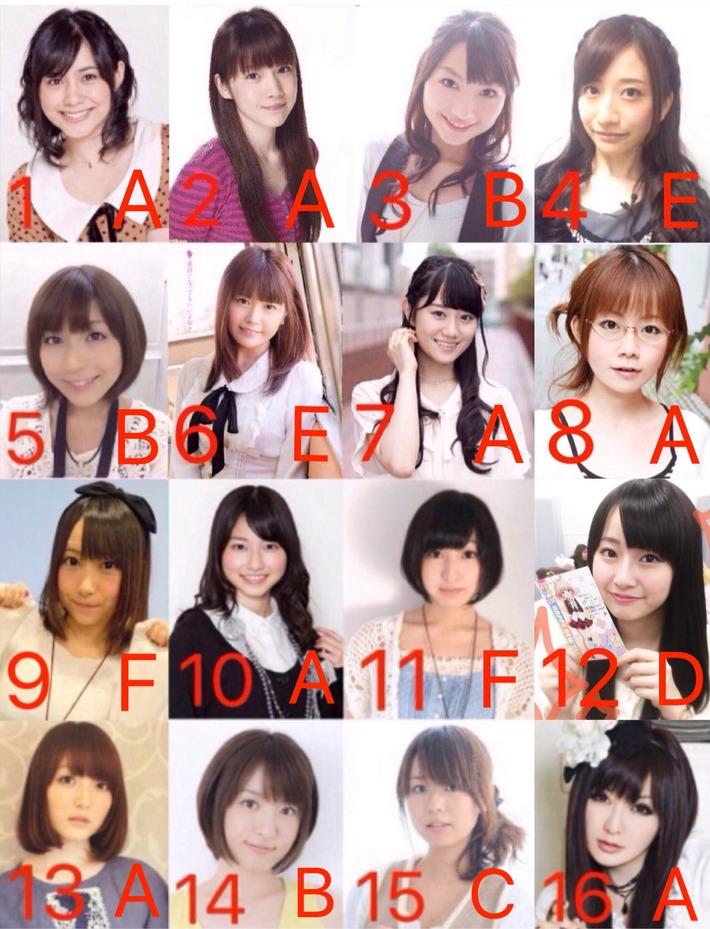 このレベルの女の子16人がいる声優風俗に行ったらどの娘指名する???www
