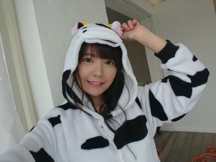 【画像】竹達彩奈さん(29)、牛の着ぐるみ着て可愛いアピールwww