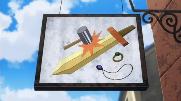 【悲報】春アニメ、おそろしく雑なデザインの看板を作画してしまう…