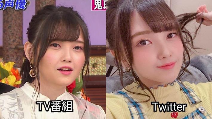 しゃべくりに出演した鬼頭明里さんとツイッター写真の差wwwwwww全然無いなんてこれは天使か!?