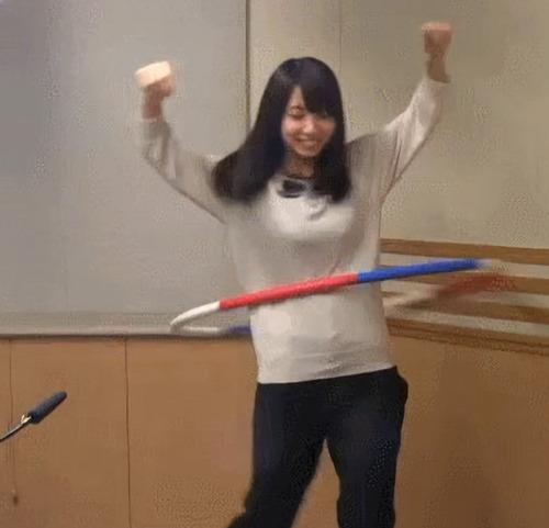 大久保瑠美ちゃんはフラフープしてるだけでも可愛いな
