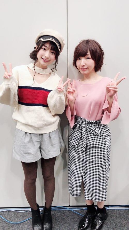 【画像】高野麻里佳さんと洲崎綾さんのツーショットもよいものですな
