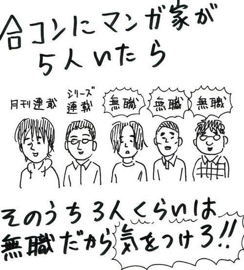 【画像】合コンにマンガ家は5人いたら・・・