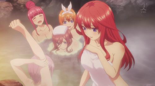 【五等分の花嫁】9話感想 貴重な5つ子の入浴シーン