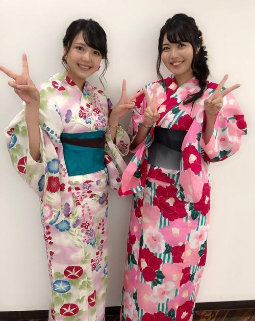 【画像】声優・三上枝織さんと大坪由佳さんの浴衣姿美しいな