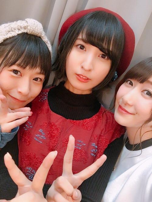 【画像】声優・佐倉綾音さん、徳井青空さん、日高里菜さんのスリーショット最高すぎ