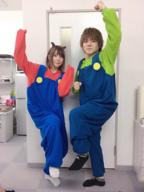 【画像】内田姉弟がスーパーマリオブラザーズになっちゃった