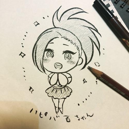【画像】声優・井上麻里奈さんが描いた「ヒロアカ・八百万百ちゃん」かわいいな