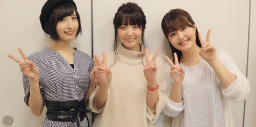 【画像】加藤英美里さん、佐倉綾音さん、野中藍さんのスリーショットいいね