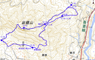 00岩櫃山ルートマップ