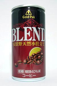 缶コーヒー ゴールドパック ブレンド 安曇野天然水仕立て