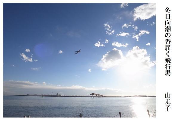 冬日向潮の香届く飛行場