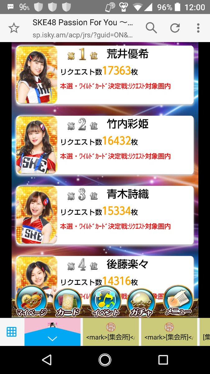 『SKE48 Passion For You』CM選抜メンバーリクエストバトル2019予選 速報発表! 他