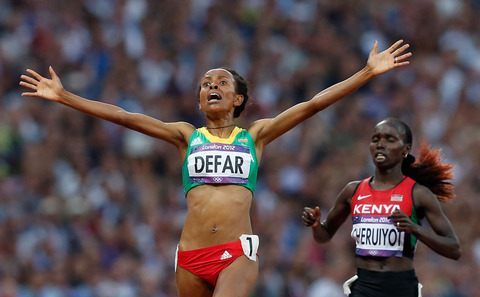 Ethopia-Meseret-Defar-appeared-shocked-after-crossing-finish