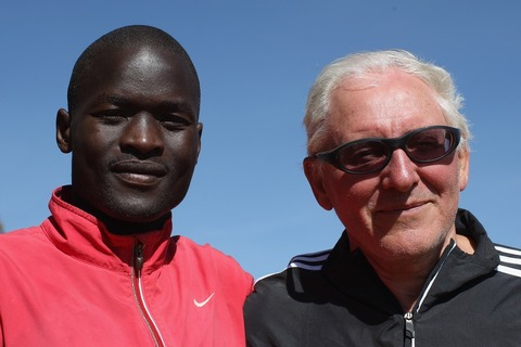 IAAF DIL Kenya Abel Kirui with coach Renato Canova 120204 Iten