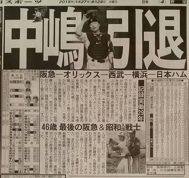 中島聡(46) 引退