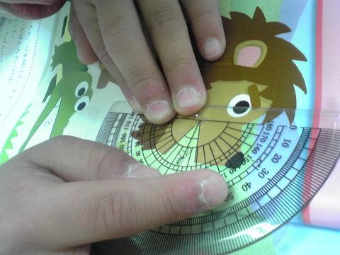 小4分度器で測る