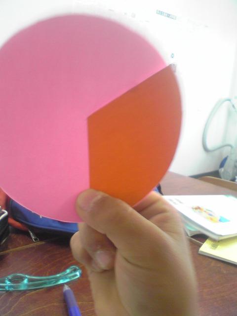 小4角度2色の円