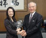 長野県がモーグルの上村愛子選手に栄誉賞