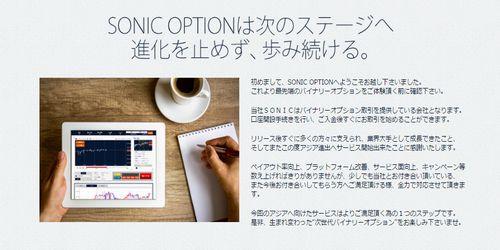 ソニックオプションについての情報