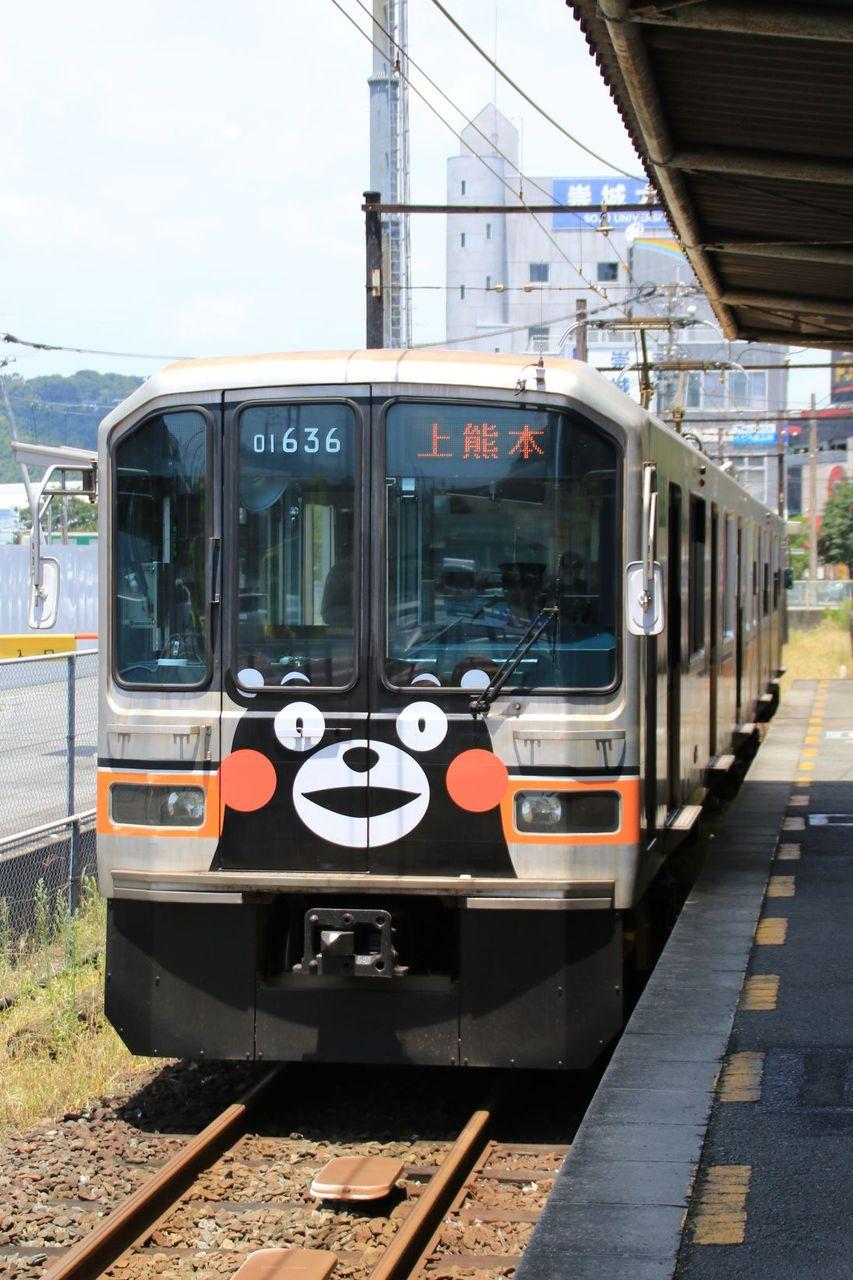 熊本電気鉄道 01系136+636編成(旧東京メトロ銀座線車)
