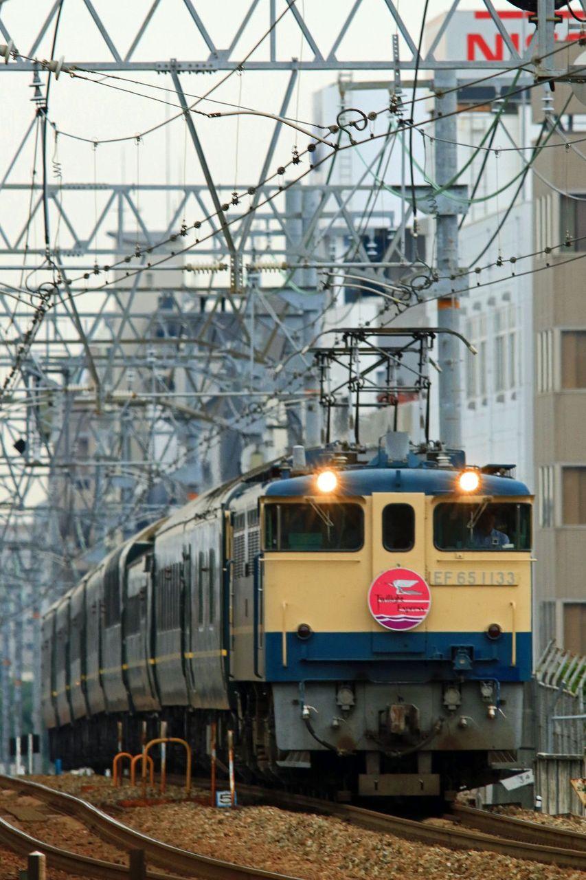 JR西日本 EF65-1133号機牽引 「トワイライトエクスプレス」団体臨時列車