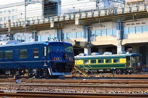 JR西日本 117系7000番台 M117編成「WEST EXPRESS 銀河」宮原支所にて…