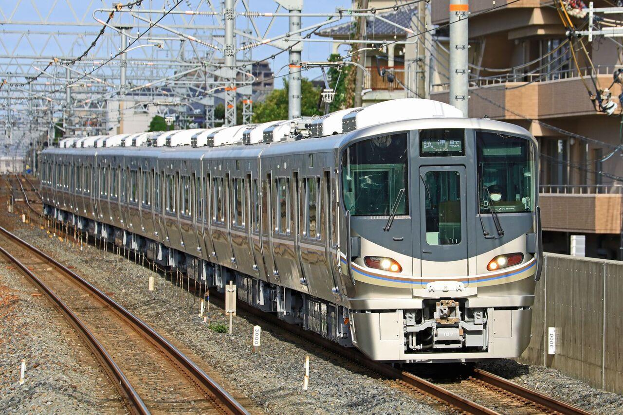 JR西日本 225系100番台I11編成 本線試運転 : 鐵道写真公開 ...