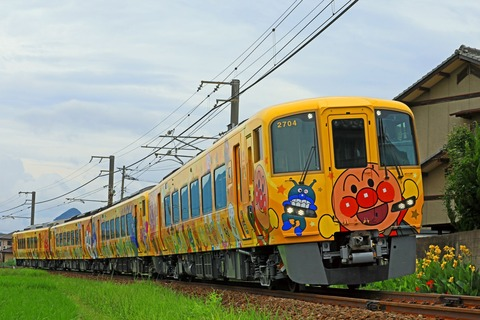 JR四国 2700系気動車 特急「南風」14号「土讃線きいろいアンパンマン列車」