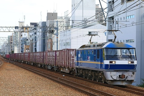JR貨物 EF210-311号機 「がんばろう西日本」ステッカー貼付車