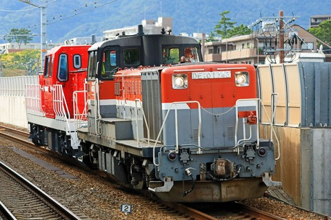 JR貨物 DD200-5号機 甲種輸送 JR貨物 DE10-1743号機 JR貨物更新色牽引