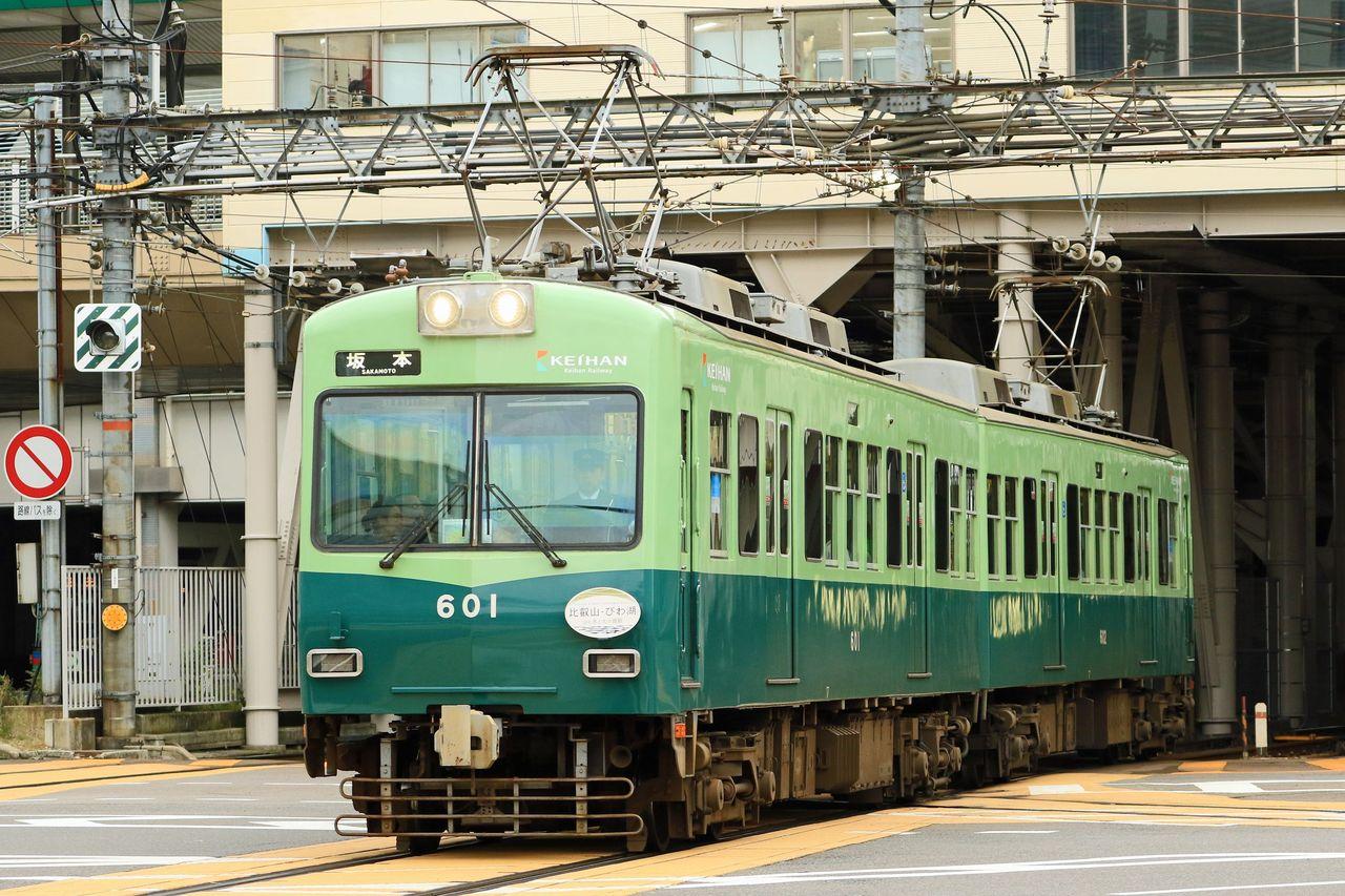 京阪電気鉄道 大津線600形601F「比叡山・びわ湖 山と水と光の廻廊」HM掲出編成