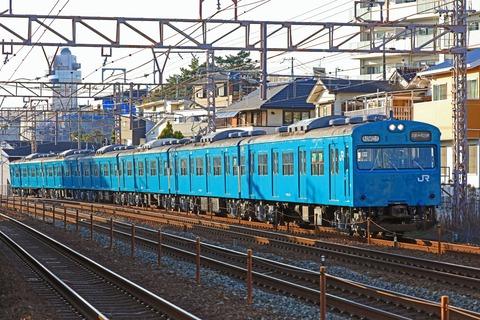 JR西日本 103系R1編成 「回送」
