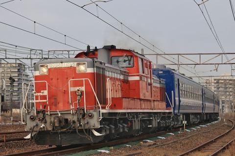 JR西日本 DD51-1192号機牽引 12系客車5両「米原訓練」 スマホ版