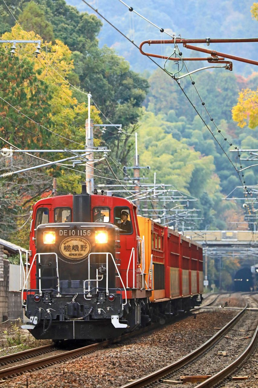 嵯峨野観光鉄道 DE10-1156号機牽引 「嵯峨野トロッコ列車」