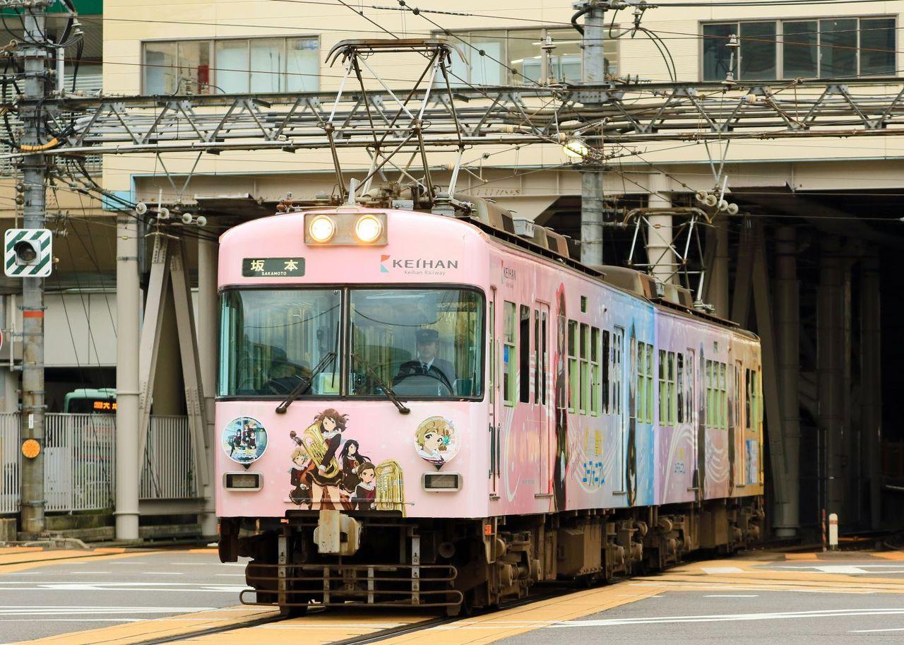 京阪電気鉄道 大津線600形619F「響け!ユーフォニアム」ラッピング編成