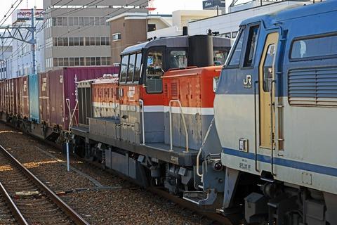 JR貨物 EF66-109号機+無動DE10-1743号機