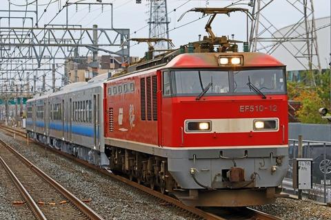 JR東日本 GV-E400系電気式気動車 秋田車 甲種輸送 JR貨物 EF510-12号機牽引
