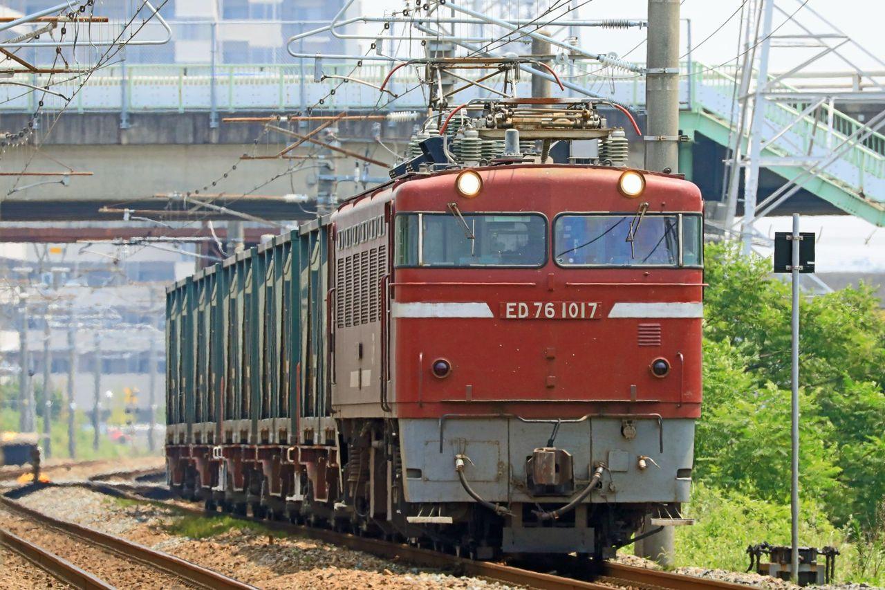 JR貨物 ED76-1017号機+コキ200