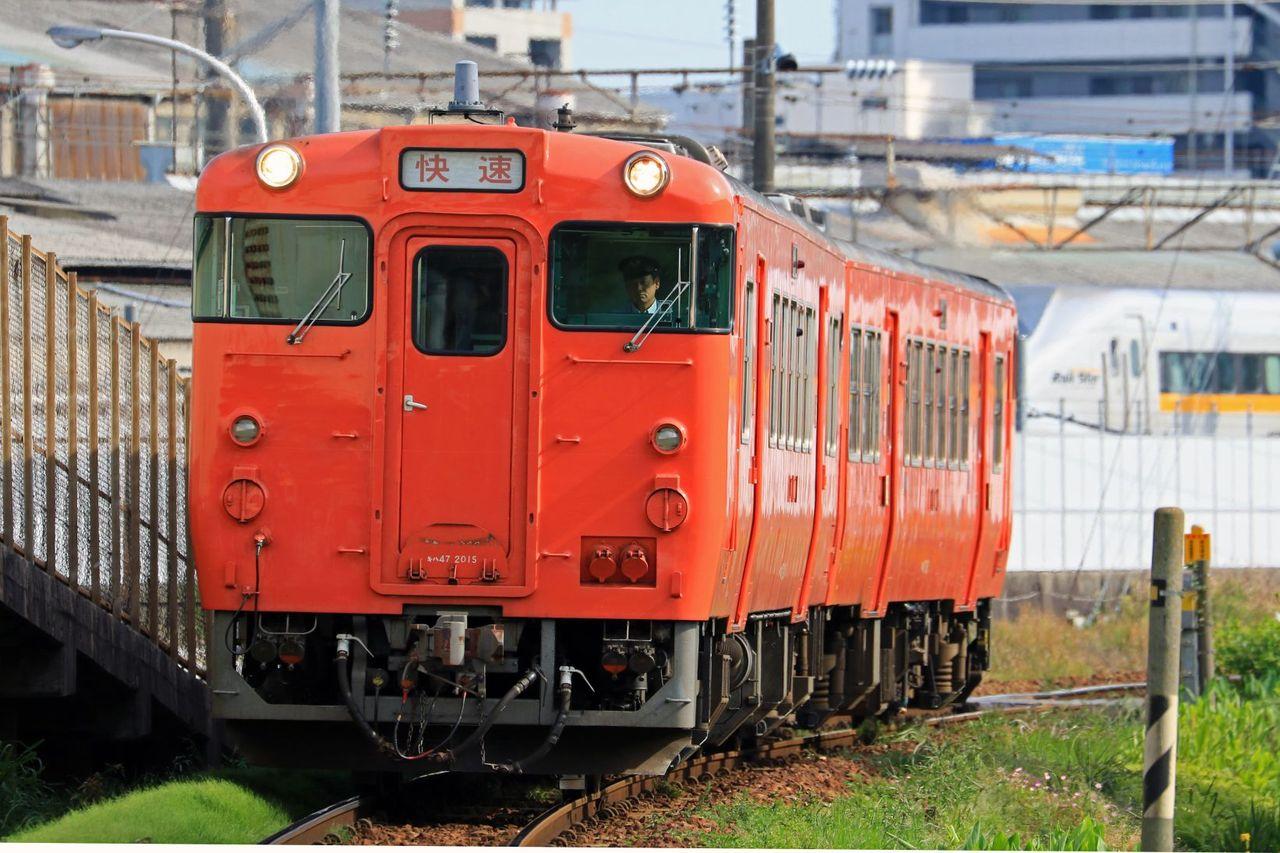JR西日本 キハ47-2015+1061 首都圏色