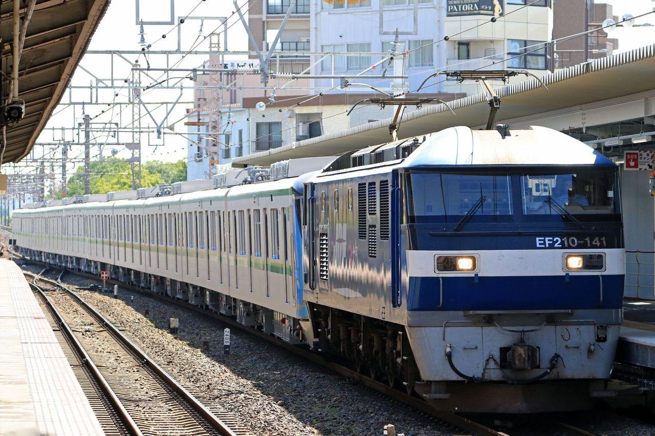 東京メトロ 16000系16129F甲種輸送 JR貨物 EF210-141号機牽引